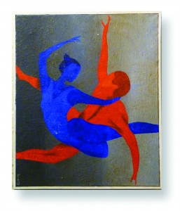 Ballet in Red and Blue